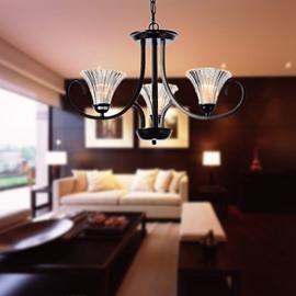 Modern Style Glass Shade 3 Lights Pendant