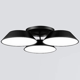 Unique Design Black Alloy 3 Heads Electroplated Flush Mount
