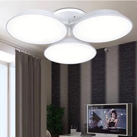 Wonderful Design White Alloy 3 Heads Electroplated LED Flush Mount