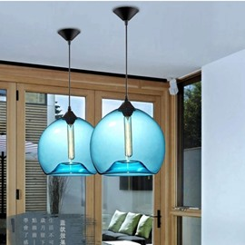 Simple Glass Northern Europe Style Colorful Ceiling Light