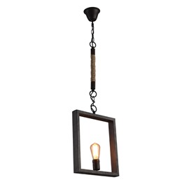 Classic Iron Framed Square Shape Decorative Chain Pendant Light