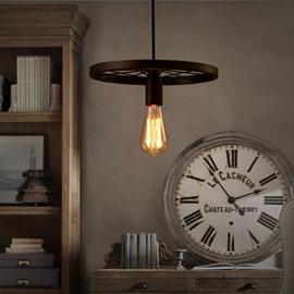 Wonderful Iron Frame Wheel Shape Decorative Pendant Light
