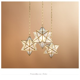 Shining Diamond Creative Retro Copper and Glass Ceiling Pendant Light