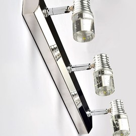 Fantastic Crystal Metal Electroplated Finish 3 Heads Wall Light