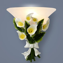 Gorgeous Calla Bouquet Design Wall Light