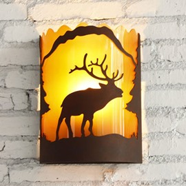 Vintage American Country Resin Deer Wall Light