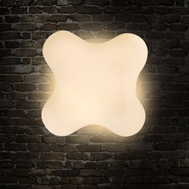 Creative White Clover Shape Design Modern Simple LED Wall Light