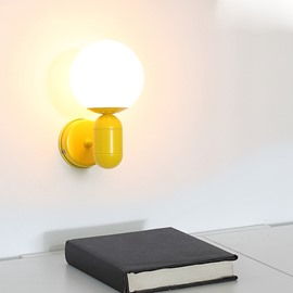 Modern Simple Hardware and Acrylic 1-Head Decorative Wall Light