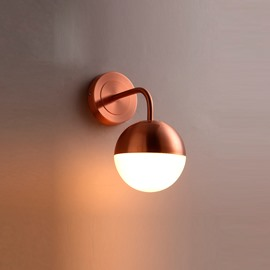 Golden Basis Hardware and Glass Modern 1-Head Decorative Wall Light