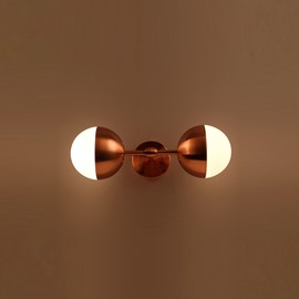 Golden Basis Hardware Modern Simple 2-Head Wall Light