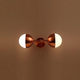 Golden Basis Hardware Modern Simple 2-Head Wall Light