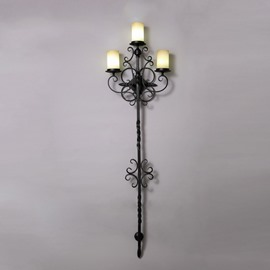 The Rod of God Pattern Hardware 3-Head Wall Light
