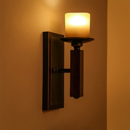 Candle Shape Modern Simple Hardware 1-Head Decorative Wall Light