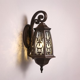 Retro European Style Hardware Simple 1-Head Decorative Wall Light