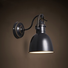 Black Light Cover Antique Style Hardware 1 Bulb Durable Wall Light