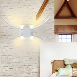 White Arc Delicate Style Hardware 1 Bulb Wall Light