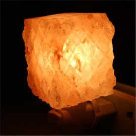Wonderful and Creative Irregular Himalayan Salt Crystal Energy Saving Lamp