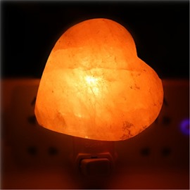 Modern and Concise Style Heart-Shaped Himalayan Ionic Salt Crystal Wall Lamp