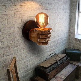 Fist Shape Creative Style Resin Finishing Antique Wall Light