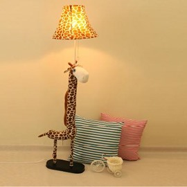 Creative Fabric Giraffe Shape Pets Adjustable Floor Lamp Table Lamp