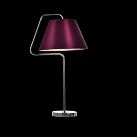 Charming Purple Metal Fabric Shade I Light Lamp