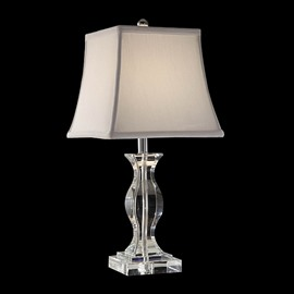 European-style Crystal Fabric Shade 1 Lght Lamp