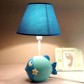 Creative Cartoon Sea Fish Design Nursery Table Lamp