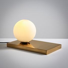 Modern Simple Design White Glasses Ball Shape Home Decorative Table Lamp