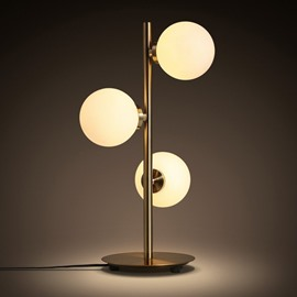 Simple Style Metals and Glasses three Bulbs Decorative Table Lamp