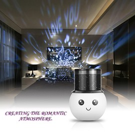 New Style Rechargeable Romantic Night Light Child Projector Lamps