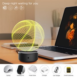 7 Colors Remote Control Basketball 3D Light LED Table Lamp Night Light/Lamp