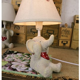 Lovely Elephant Environmental Friendly Resin Material Kids Room Lamp