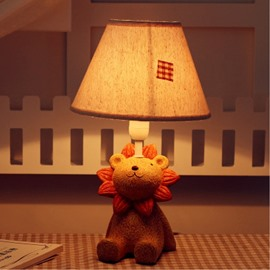 Environmental Friendly Resin Material 7.1*11.7in Cartoon Lion Kids Room Lamp