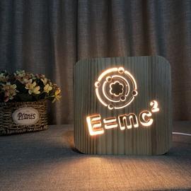 Creative Pattern Design Natural Wooden Light for Kids