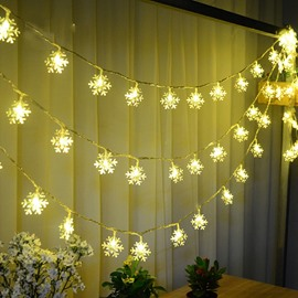 Festival Christmas Decoration Snowflake Design 10-Meter Strip LED Lights