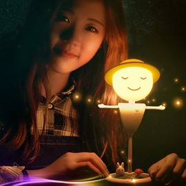 Flexible Twist Touch Sensor Scarecrow Design Night Lamp