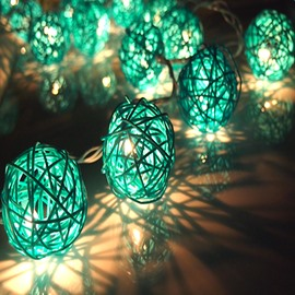 Decorative Green Vine Shape 6.5 Feet Length 20 Bulbs LED String Light