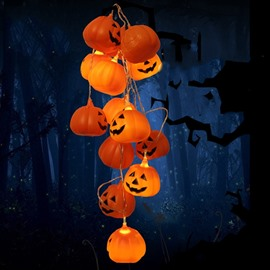 Special Design Plastic Pumpkin Shape Halloween Decoration LED Light