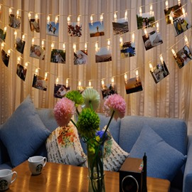 Modern Creative Photo Clip Design 6.6 Feet Battery Home Decorative LED Lights
