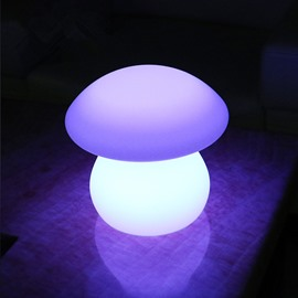 Cute Polyethylene Mushroom Shape Remote Control Design Desktop LED Night Lights