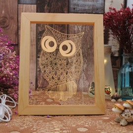 3D Lovely Owl Creative and Fancy Birthday Gift Soft Light USB LED Night Lamp