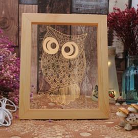 3D Lovely Owl Creative and Fancy Birthday Gift Soft Light USB LED Night Lamp
