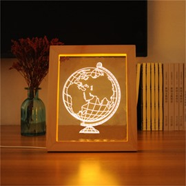 Modern and Creative Globe 3D Acrylic LED Night Lamp