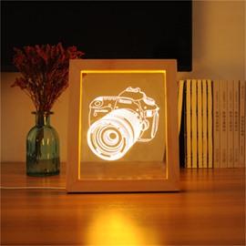 Wonderful and Modern Camera USB Creative Acrylic 3D LED Light Night