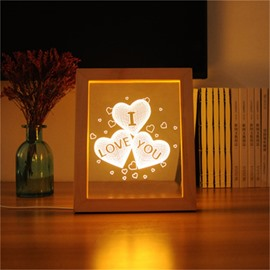 Romantic Heart-Shaped USB Modern and Creative Acrylic 3D LED Light Night