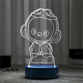Wonderful Gift Concise and Modern Seven Color 3D USB LED Night Light