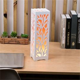 European Style Concise and Romantic Creative Wood Plastic USB Night Lamp