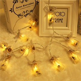 Glass Bottle Christmas Decoration Battery Stage LED Lights