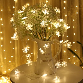 Christmas Snow Pattern USB Holiday PVC LED Lights