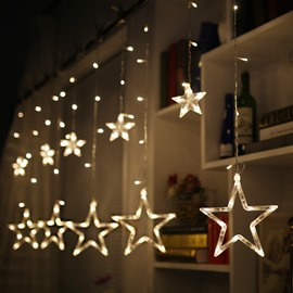 Star Shape Christmas Decoration Wedding Ins Style PVC LED Lights